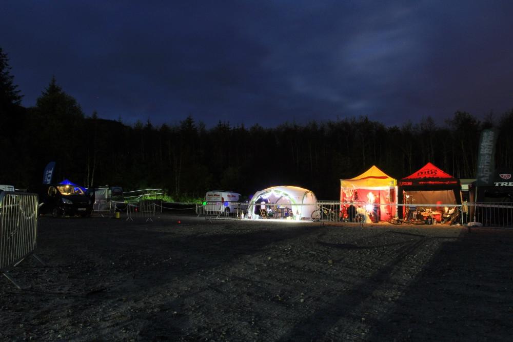 Glowing pits