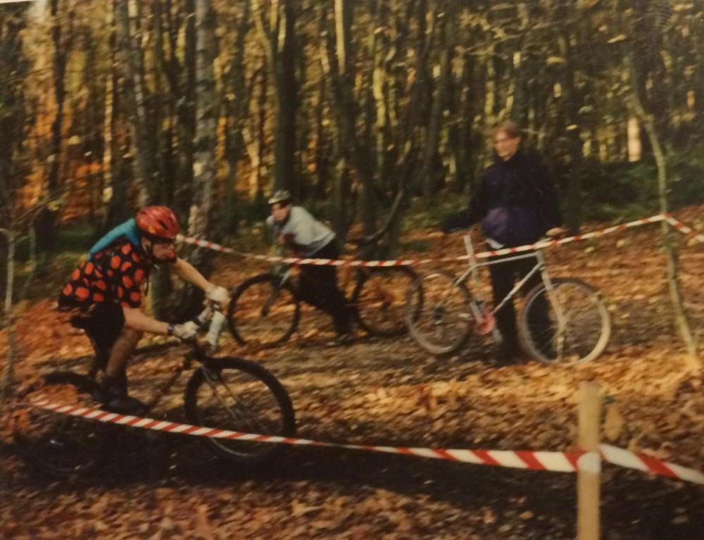 A long, long time ago! First round of the 1995 Spring Series complete with original Camelbak and XT Thumbies!