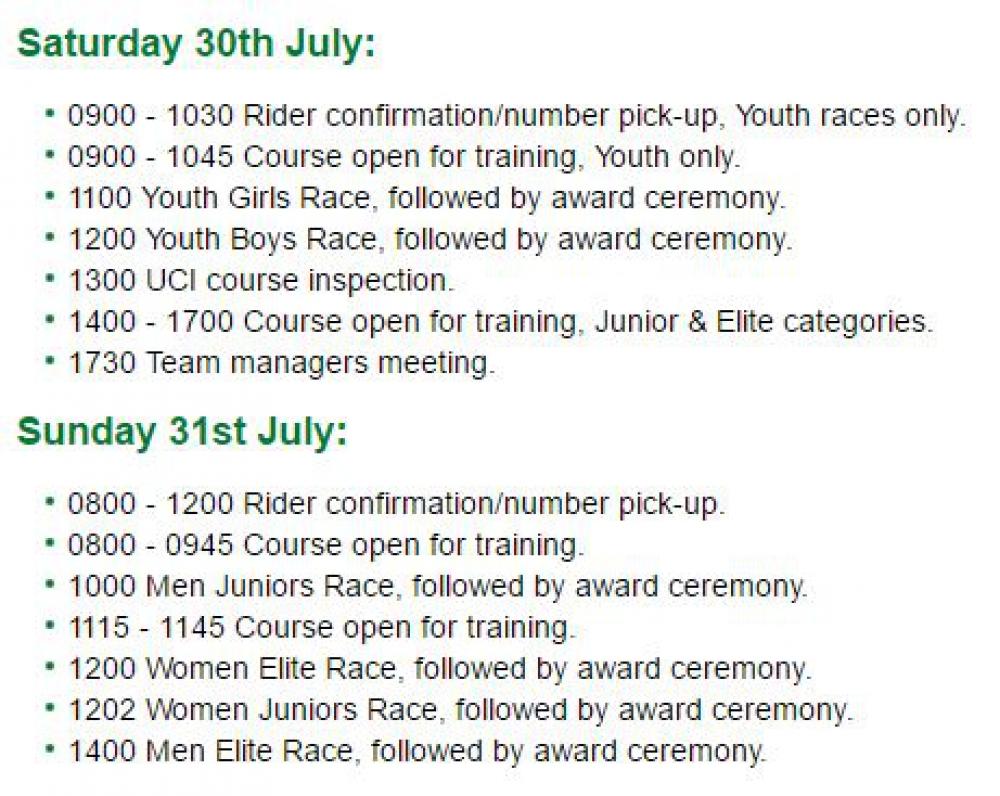 Hadleigh International schedule